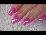 Урок по дизайну ногтей. Ярко-розовый.