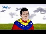 Мультфильм-Уго Чавес попадает в рай